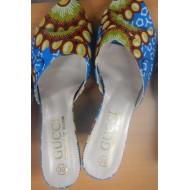 Chaussures en tissu wax